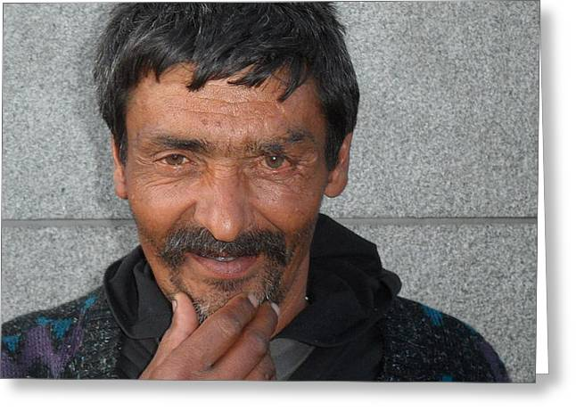 Audacity Greeting Cards - Street People - A Touch Of Humanity 18 Greeting Card by Andre Theophane SITCHET-KANDA