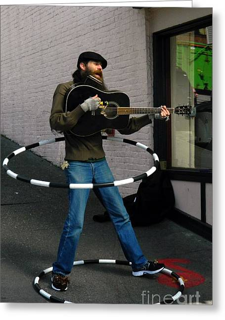 Neurotic Images Photography Greeting Cards - Street Performer Greeting Card by Chalet Roome-Rigdon