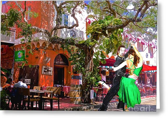 Latin Dance Greeting Cards - Street Rhythms Greeting Card by Judy Kay