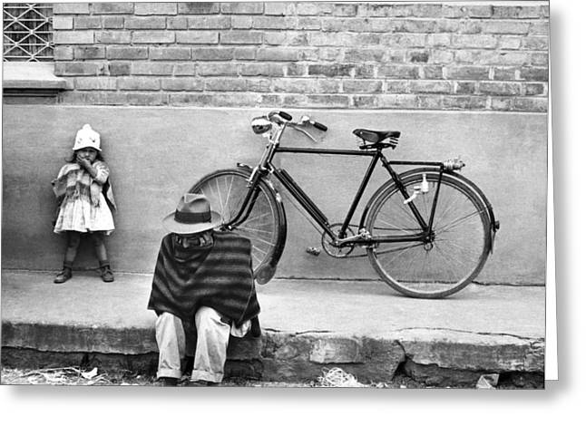 Sit-ins Greeting Cards - Street Scene In Colombia Greeting Card by Underwood Archives
