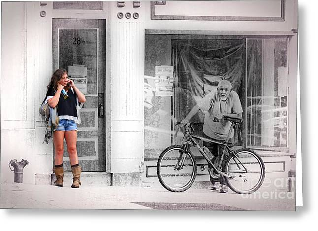 Urban Images Greeting Cards - Street Scene Greeting Card by Joseph J Stevens