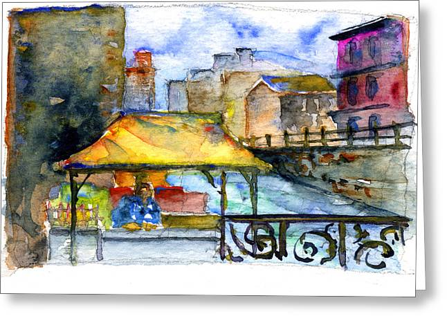 Street Scene St. Petersburg Greeting Card by John D Benson