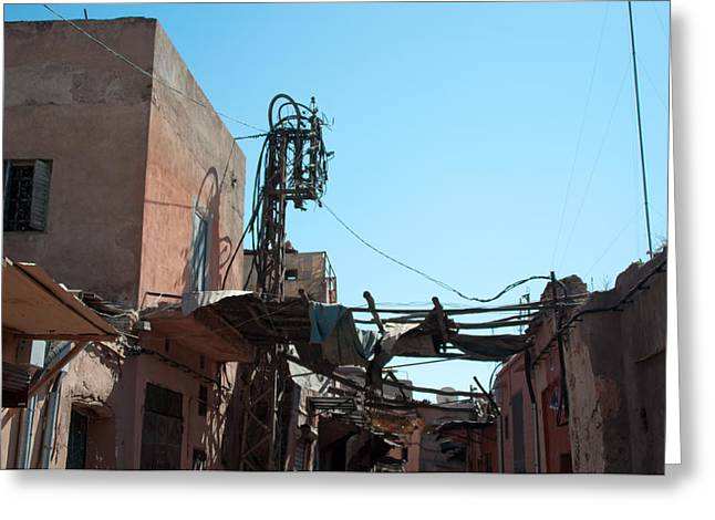 Street Scenery In The Medina Of Marrakech Greeting Card by Frank Gaertner