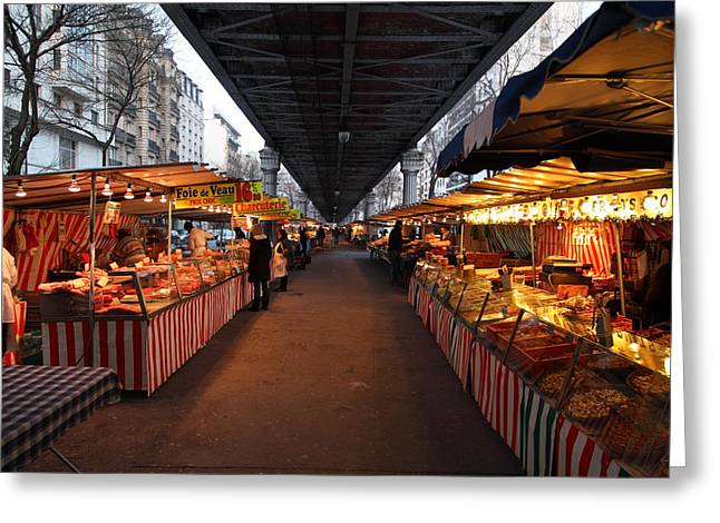 Food Greeting Cards - Street Scenes - Paris France - 011316 Greeting Card by DC Photographer