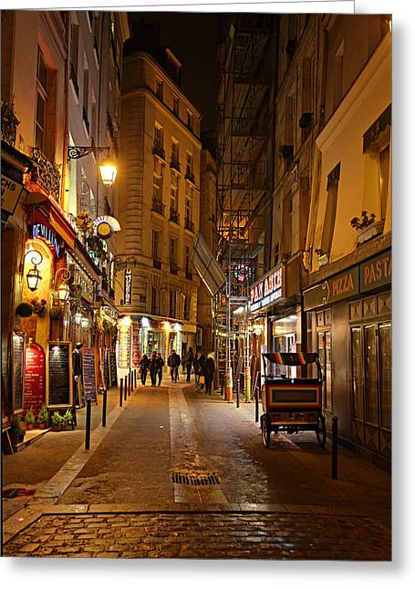 Restaurant Greeting Cards - Street Scenes - Paris France - 011329 Greeting Card by DC Photographer