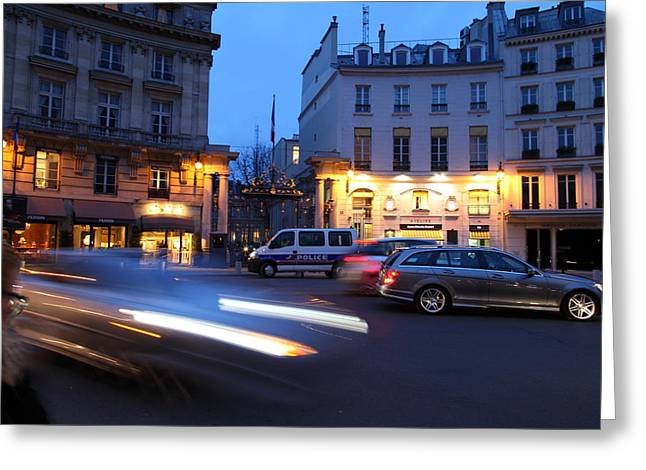 Tables Greeting Cards - Street Scenes - Paris France - 011338 Greeting Card by DC Photographer