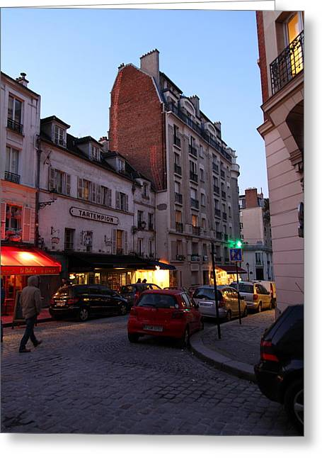 France Photographs Greeting Cards - Street Scenes - Paris France - 01134 Greeting Card by DC Photographer