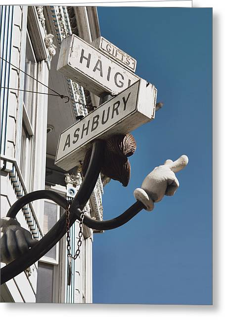 Haight Ashbury Greeting Cards - Street sign Greeting Card by Nastasia Cook