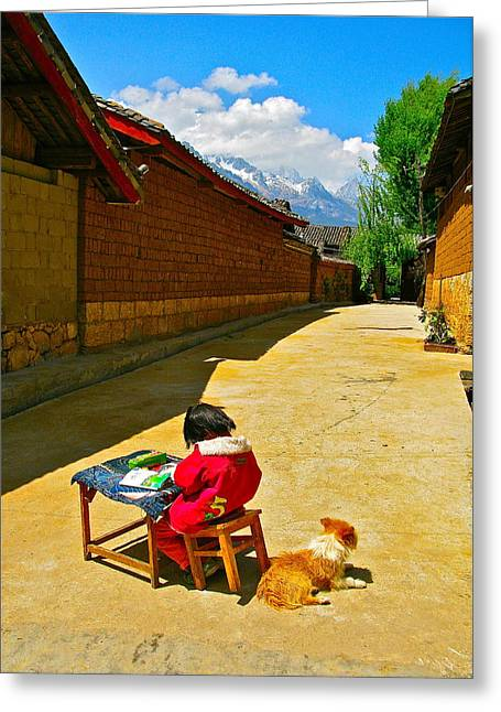 China Beach Greeting Cards - Street Smart Greeting Card by Michael Blesius