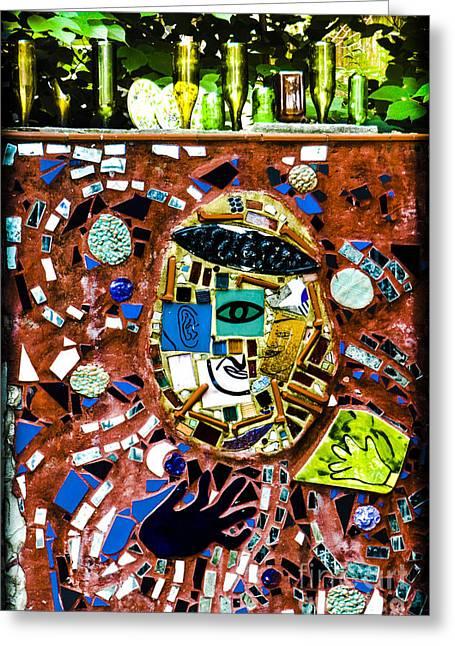 Geometric Style Greeting Cards - Street Surrender  Greeting Card by Gary Keesler