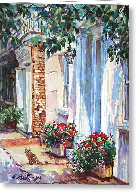 Charleston Greeting Cards - Street Textures Greeting Card by Alice Grimsley