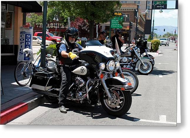 Rally Greeting Cards - Street Vibrations 33 Greeting Card by Eric Martin