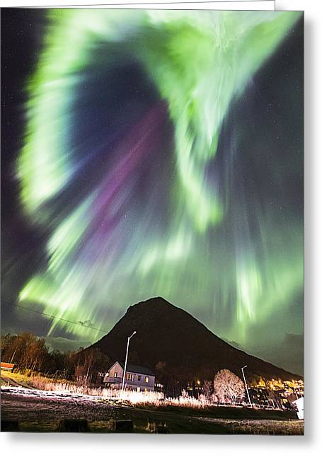 Astrophoto Greeting Cards - Street view Greeting Card by Frank Olsen