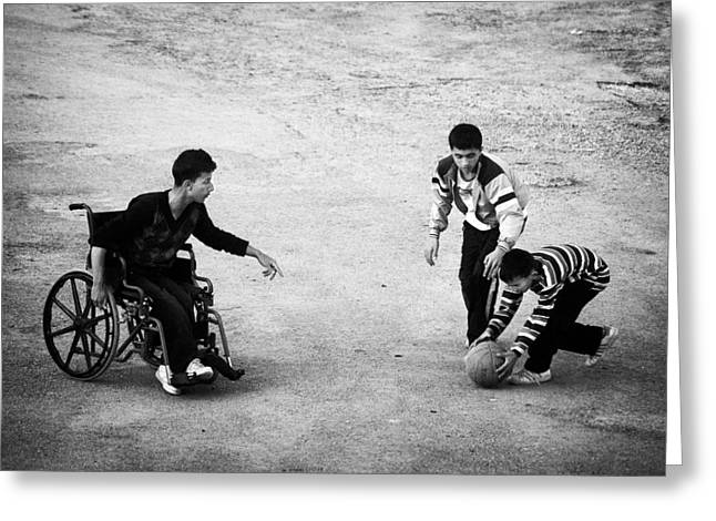 Disability Photographs Greeting Cards - Streetball Greeting Card by Ilker Goksen