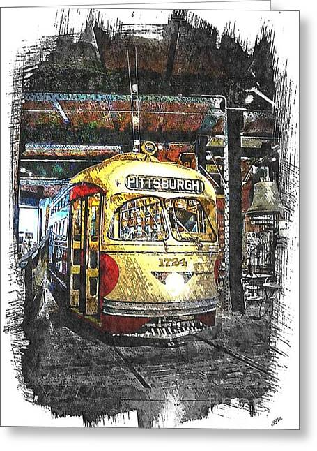 Pcc Greeting Cards - Streetcar 1724 Greeting Card by Spencer McKain