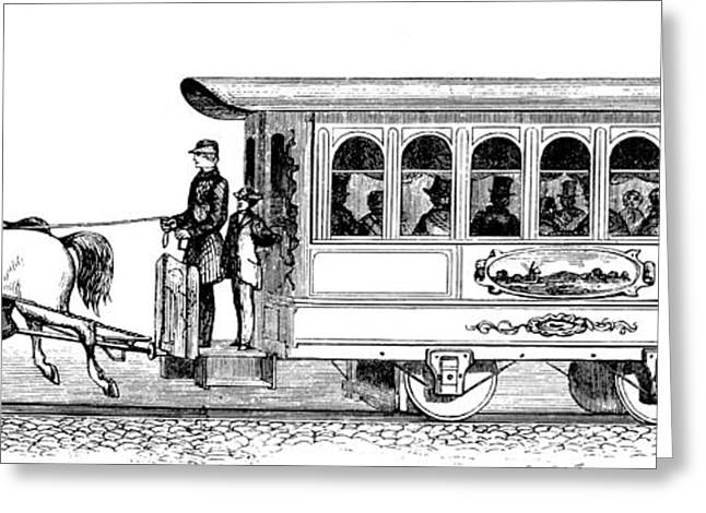 Streetcar, 19th Century Greeting Card by Granger