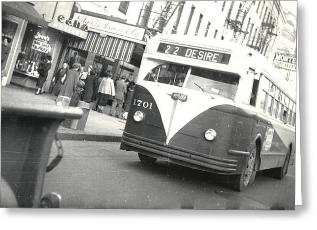 Streetcar Named Desire Greeting Card by Cynthia Decker