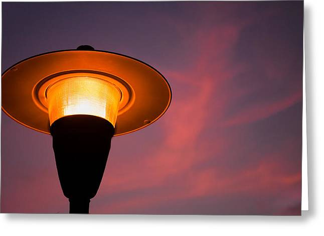 Florida Gifts Greeting Cards - Streetlamp Greeting Card by David Smith