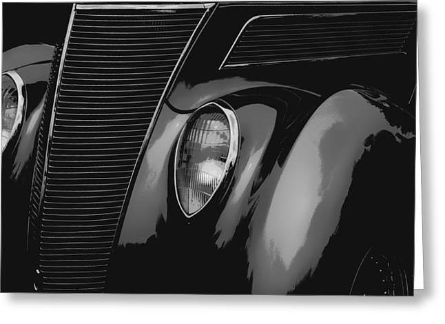 Warp Speed Greeting Cards - Streetrod 1937 Ford Greeting Card by Jack Zulli