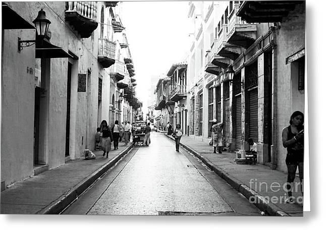 Streets Of Cartagena I Greeting Card by John Rizzuto