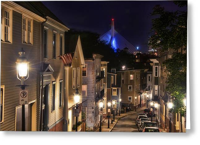 Night Scenes Greeting Cards - Streets of Charlestown 2 Greeting Card by Joann Vitali