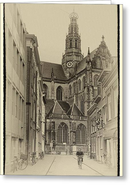 Spring Street Greeting Cards - Streets of Haarlem Greeting Card by Joan Carroll
