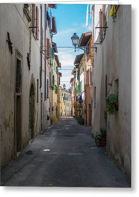 Stepping Stones Greeting Cards - Streets Of Italy Greeting Card by BRD Photography