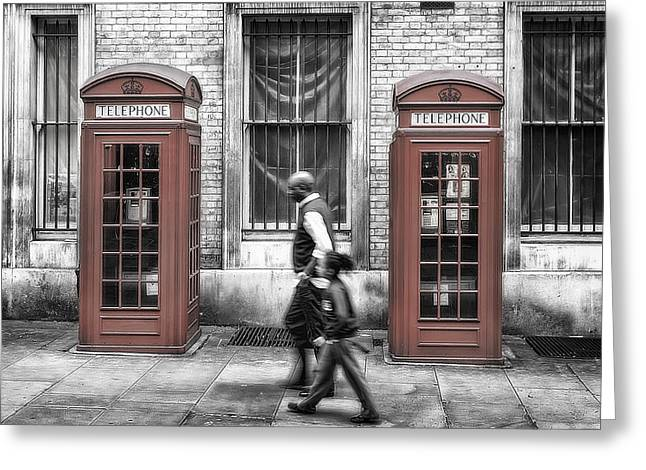 Kiosk Greeting Cards - Streets of London Greeting Card by Erik Brede