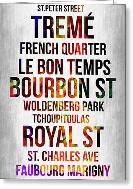 Usa Digital Art Greeting Cards - Streets of New Orleans 1 Greeting Card by Naxart Studio