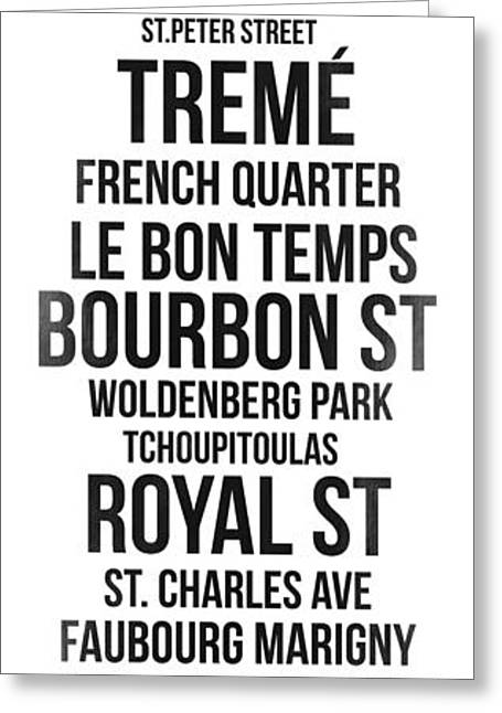 Usa Digital Art Greeting Cards - Streets of New Orleans 3 Greeting Card by Naxart Studio