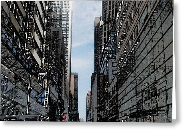 Streets of New York City Greeting Card by Mario  Perez