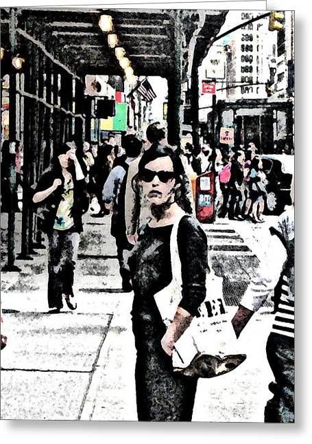 Streets Of Nyc 19 Greeting Card by Mario Perez