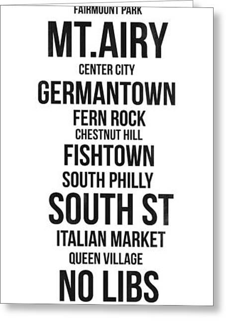 Philadelphia Street Greeting Cards - Streets of Philadelphia 3 Greeting Card by Naxart Studio