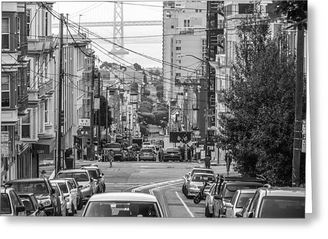 Oakland Neighborhood Greeting Cards - Streets of San Francisco Greeting Card by Ken Kobe