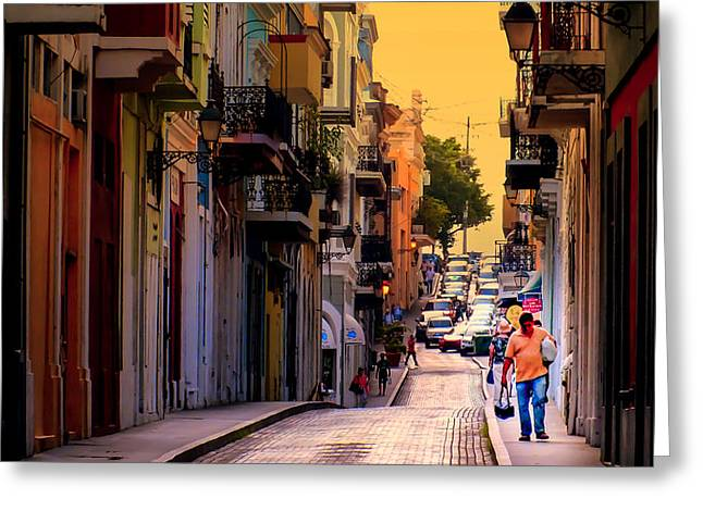 STREETS of SAN JUAN Greeting Card by KAREN WILES
