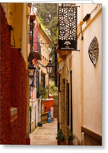 Rincon Greeting Cards - Streets of Seville  Greeting Card by Andrea Mazzocchetti
