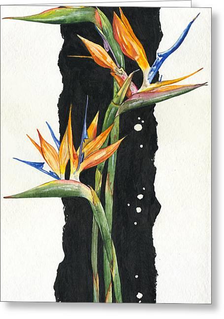 Elena Yakubovich Greeting Cards - Strelitzia - Bird Of Paradise 11 Greeting Card by Elena Yakubovich