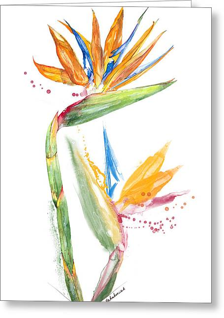 Strelitzia - Bird Of Paradise 13 Elena Yakubovich Greeting Card by Elena Yakubovich