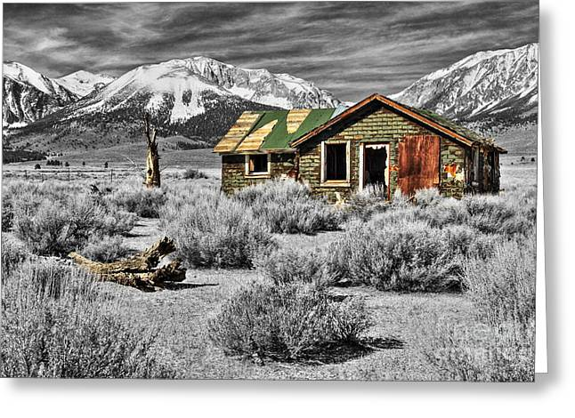 Old Cabins Greeting Cards - Strength Amidst The Test Of Time Greeting Card by James Eddy