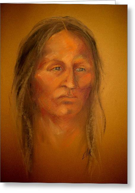 Native American Theme Greeting Cards - Strength and Vision Greeting Card by Johanna Elik