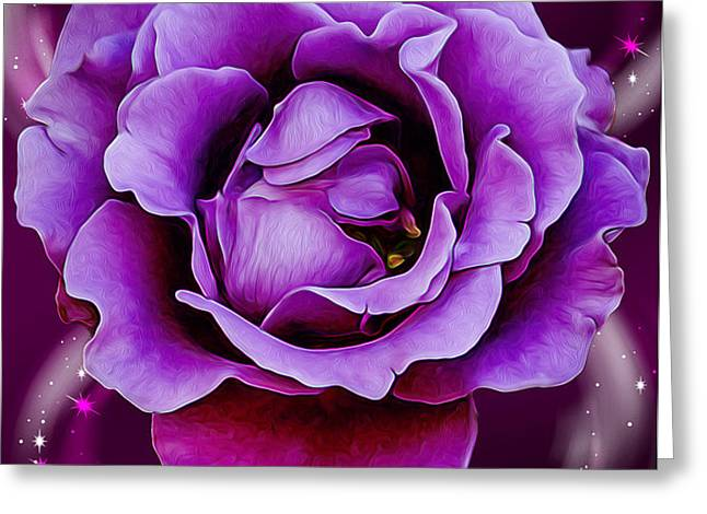 Strength From Beauty Greeting Card by Bill Tiepelman