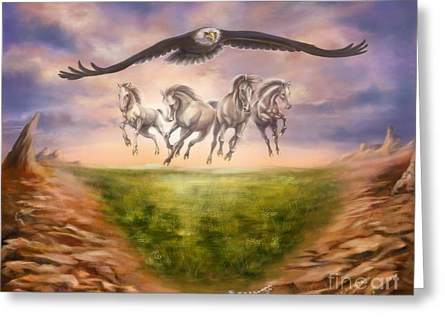 Strength Of The Horse Greeting Card by Tamer and Cindy Elsharouni