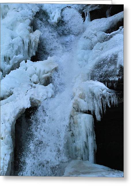Water In Cave Greeting Cards - Strength Of Water And Ice Greeting Card by Dan Sproul
