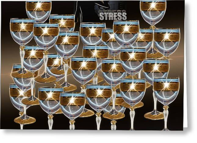 Gold Trim Greeting Cards - STRESS - Featured in Newbies and Visions in the Night Groups Greeting Card by EricaMaxine  Price