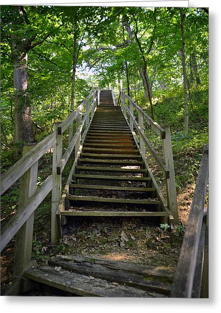 Recently Sold -  - Wooden Stairs Greeting Cards - Stress Test Greeting Card by Thomas Woolworth