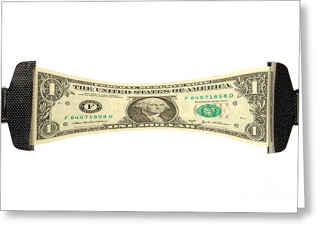 Stretching the Dollar Greeting Card by Olivier Le Queinec