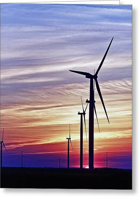Recently Sold -  - Farm Stand Greeting Cards - Striated sky Greeting Card by Jim Finch