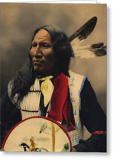 Omaha Nebraska Greeting Cards - Strikes With Nose Oglala Sioux Chief  Greeting Card by Heyn Photo