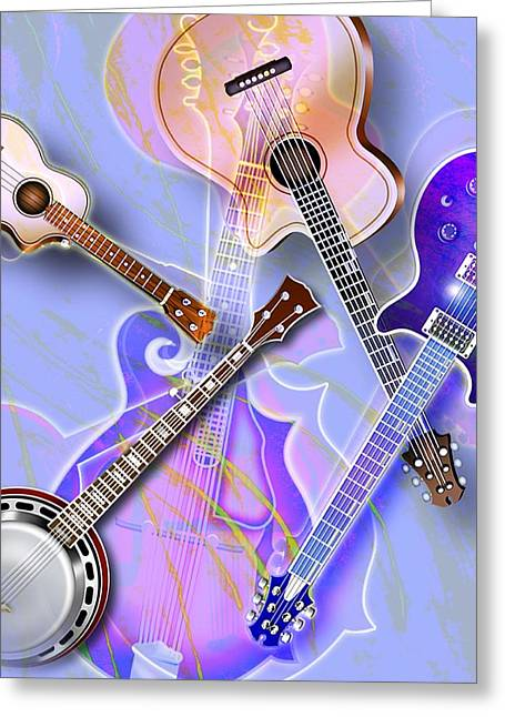 Ukelele Greeting Cards - Stringed Instruments Greeting Card by Design Pics Eye Traveller