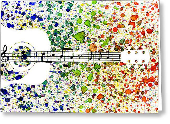 Rock And Roll Heaven Greeting Cards - Strings of notes Greeting Card by Tim Kravel